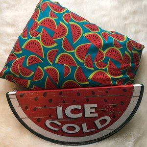 Watermelon Pillow and Wall Plaque